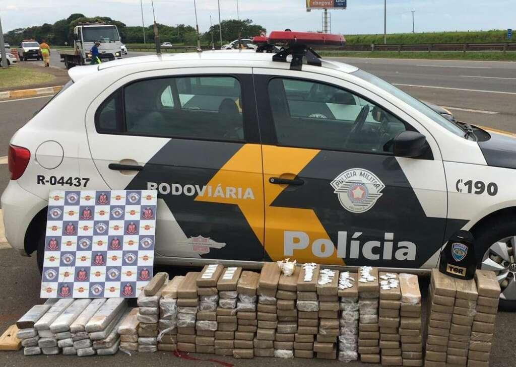 PMRv. Operação Ônibus resulta na apreensão de 194 kg de drogas