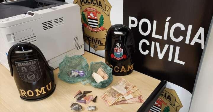 """Casal é preso por tráfico em Pirassununga durante """"ação"""" policial"""