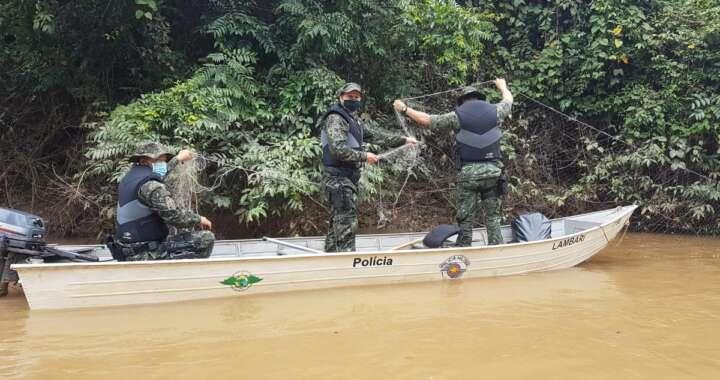 Pelotão (1º) da PMA com sede em Pirassununga divulgou balanço da Piracema