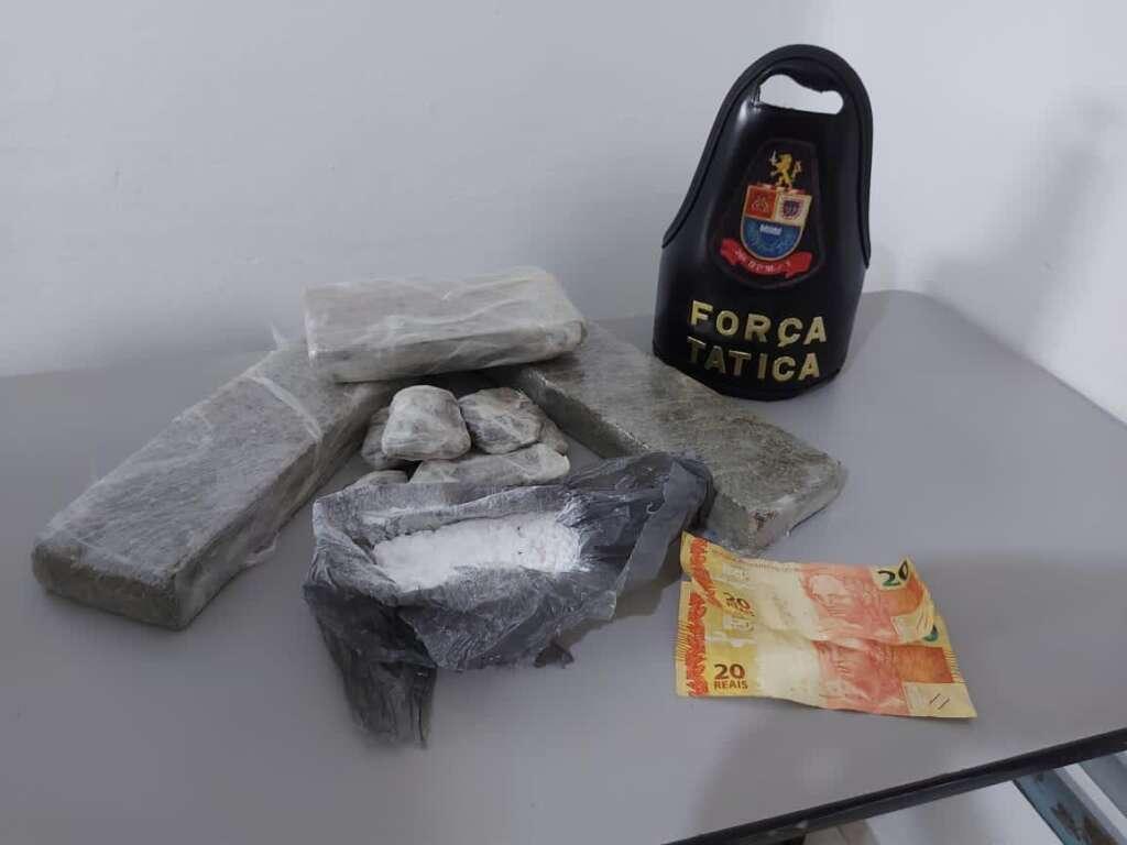 Força Tática de Leme retira de circulação mais de 2 kg de drogas e prende suspeito
