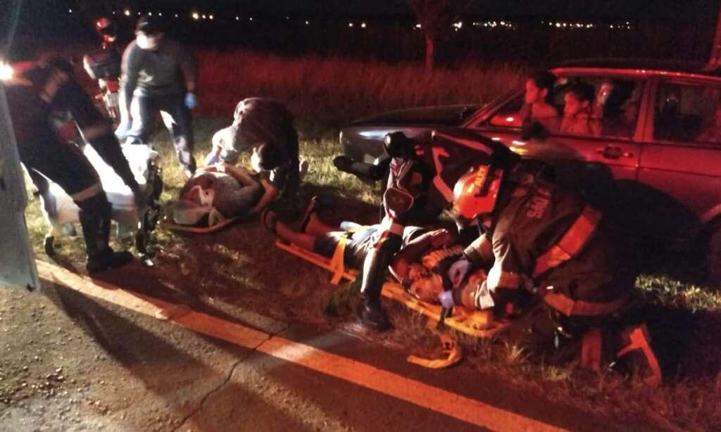 Grave acidente deixa vítimas no km 01 da SP-201 em Pirassununga