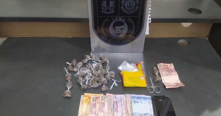 ROMU da GCM de Pirassununga em mais uma apreensão de drogas na zona leste