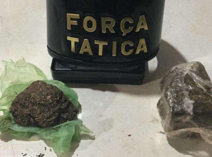Força Tática de Leme prende homem com cerca de 200 gramas de maconha