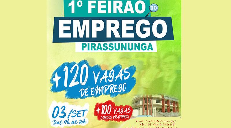 Prefeitura de Pirassununga realiza 1º Feirão do Emprego